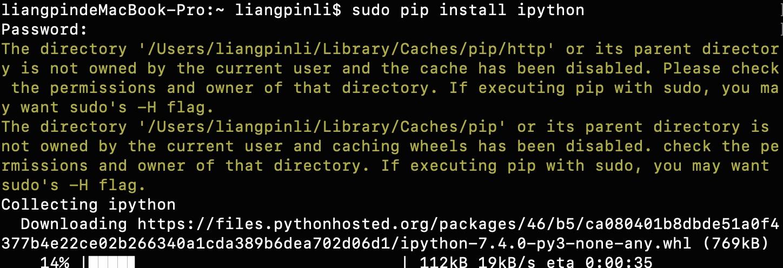 小白学习Python,mac下如何安装pip、ipython